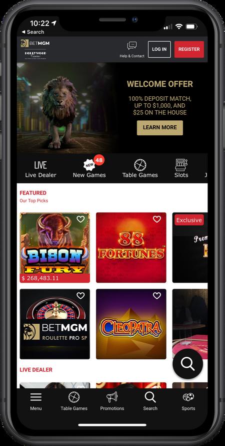 Casino Header Corner Image