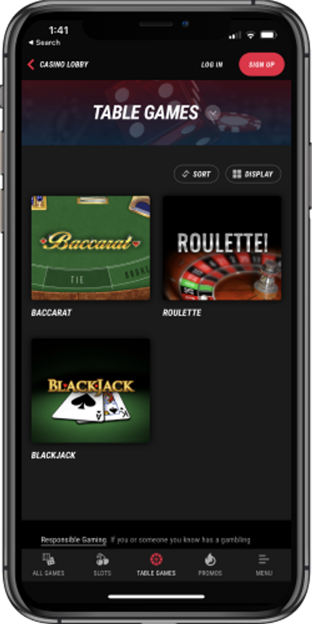 Table Games Pointsbet Online Casino