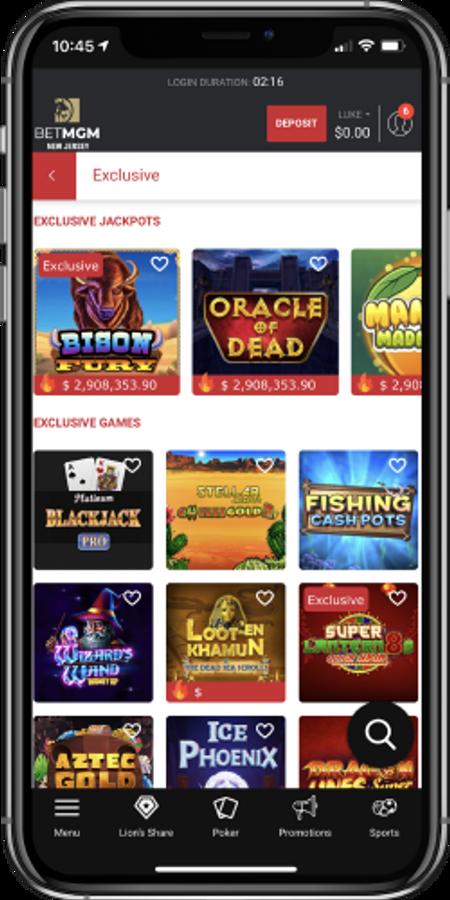 BetMGM Casino's exclusive jackpot offering
