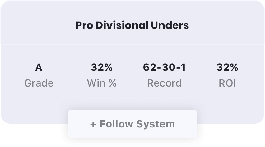 Pro Divisional Unders